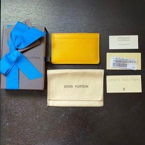 Louis Vuitton Card Holder EPI Citron